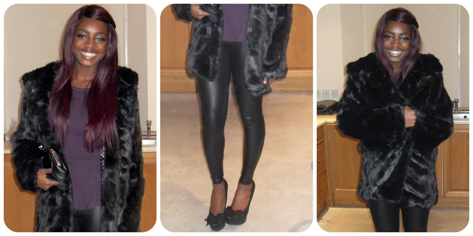 Daisy Street Faux Fur Coat