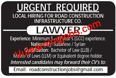 Road Construction Company Jobs 2020 In Qatar For Lawyer Latest
