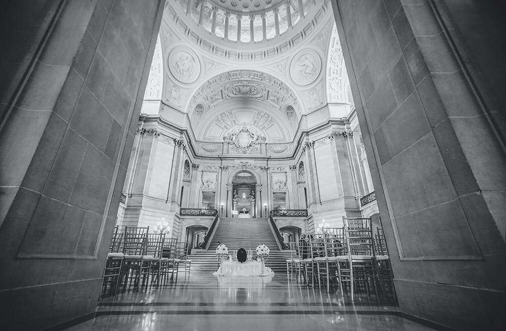 San Francisco City Hall wedding - Empty Hal