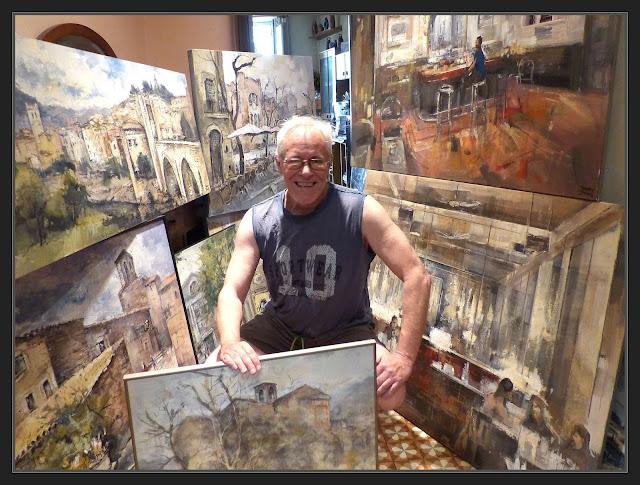 ART AL JARDÍ-PINTURA-EXPOSICIÓ-PINEDA DE BAGES-PINTOR-ERNEST DESCALS-FOTOS-PREPARATIUS-QUADRES-