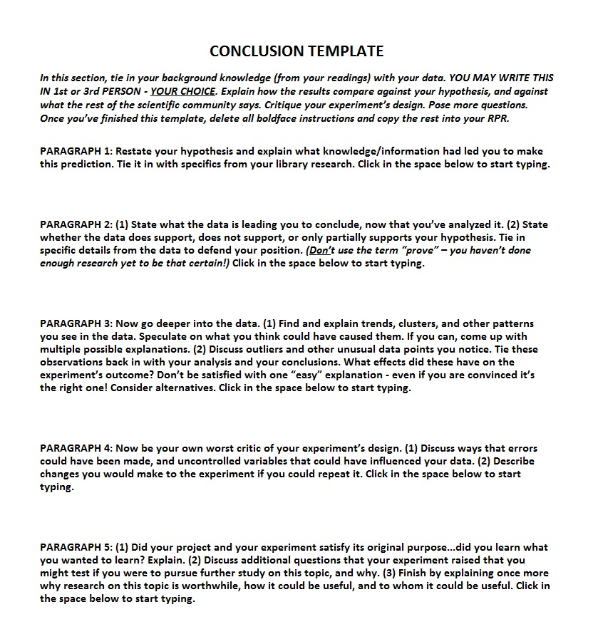 Comparative essay conclusion sample
