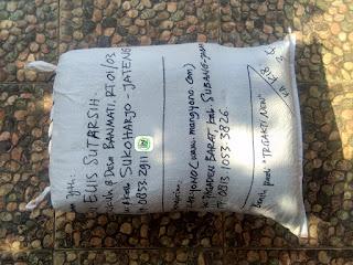 Tambahan Benih padi yang dibeli    EUIS SUTARSIH Sukoharjo, Jateng.    (Sesudah di Packing).