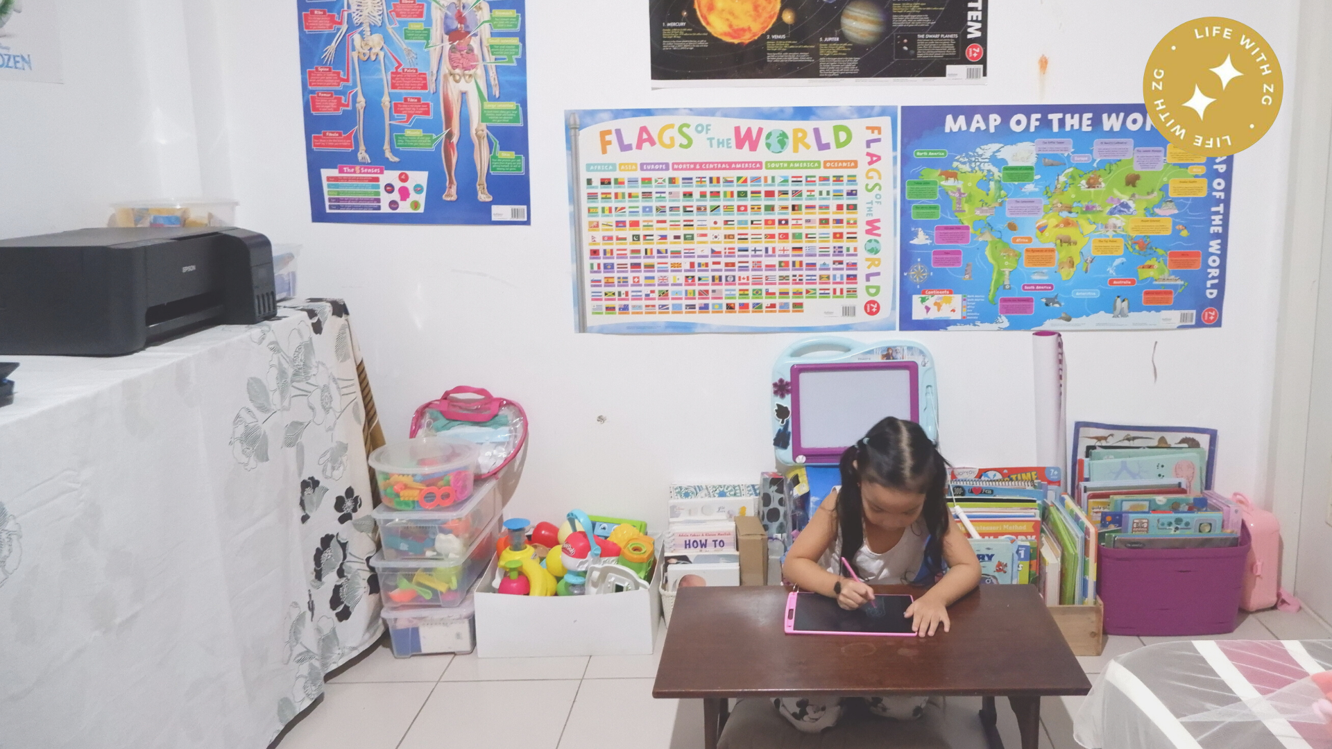 homeschool room setup in the philippines. how to organize and tips to setup your own homeschool room.