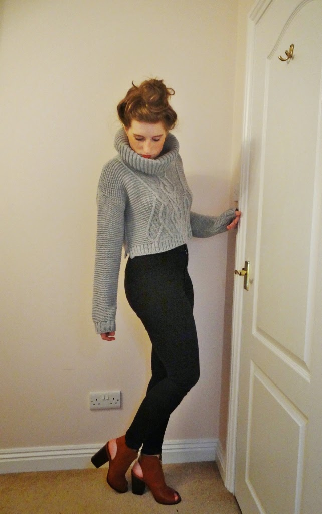 grey cable knit missguided