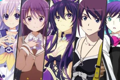 30 Karakter Anime Perempuan Berambut Ungu Terbaik dan Tercantik