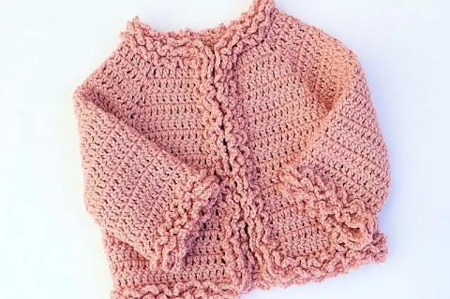 Tutorial chaqueta de invierno para bebé a crochet para todas las tallas