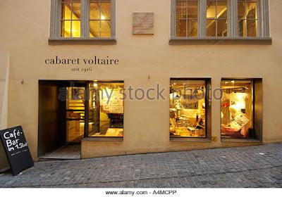 Στη φωτογραφία εικονίζεται η πρόσοψη του καμπαρέ Βολταίρ στη Ζυρίχη.
