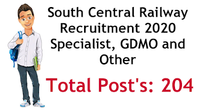 South Central Railway Recruitment Specialist GDMO and Other