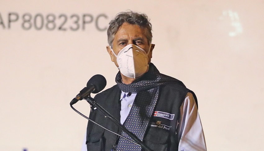 Presidente Sagasti sobre llegada de vacunas