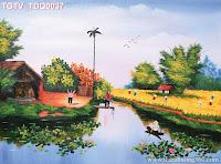 Tranh làng quê thơ mộng