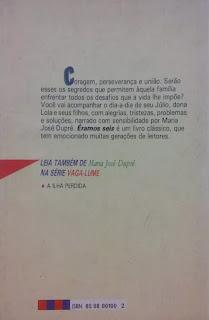Éramos seis. Maria José Dupré. Editora Ática (São Paulo-SP). Coleção Vaga-Lume. 1994. Contracapa.