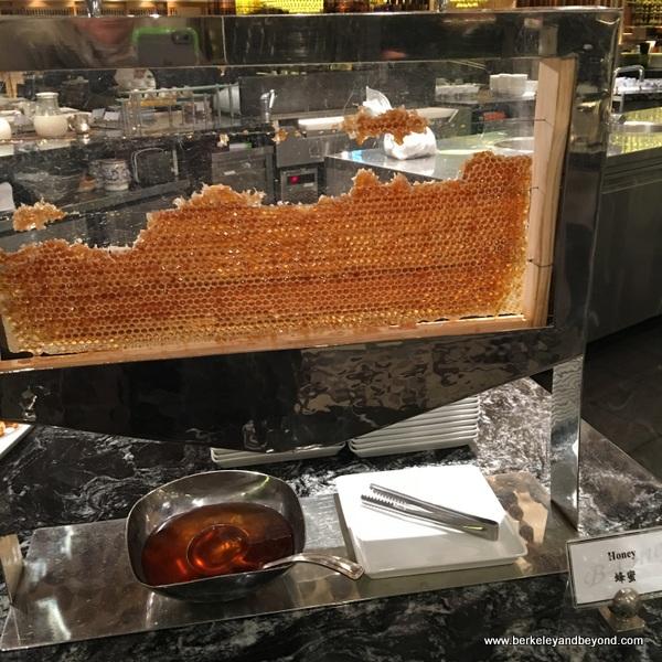 honeycomb display in breakfast room at The Sherwood Taipei in Taiwan