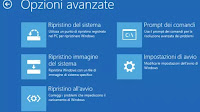 Reinstallare la console di ripristino di Windows 10 (Windows RE)