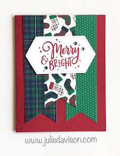 Stampin' Up! Everything Festive Cards for Christmas ~ Wrapped in Plaid Designer Paper ~ 2019 Holiday Catalog ~ Card Layout ~ www.juliedavison.com