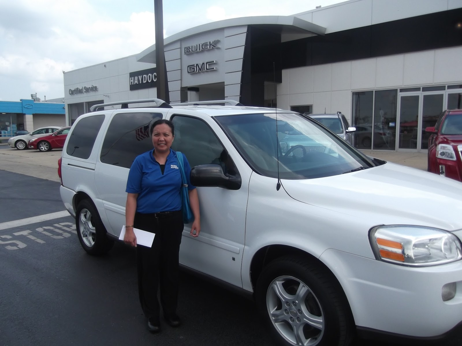 Haydocy Buick GMC  June 2013 Haydocy Automotive delivers another 2006 Chevy Uplander to Myla H of Columbus  Ohio  When asked about her experience working with Haydocy Sales  professional
