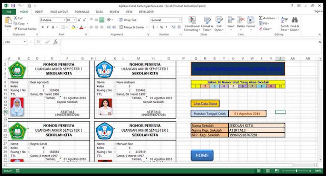 File Pendidikan Aplikasi Cetak Kartu Peserta Ujian Sekolah/Madrasah Terbaru