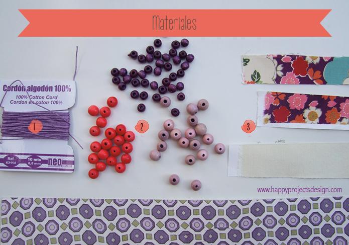 DIY collares de tela: materiales