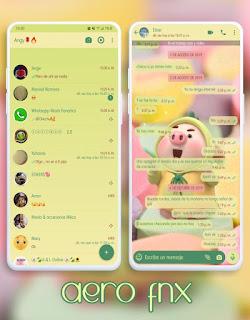 Cute Pig Theme For YOWhatsApp & Fouad WhatsApp By Ave fénix