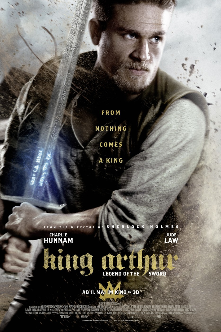 King Arthur Legend of the Sword (2017) HDRip  Full Movie Cover
