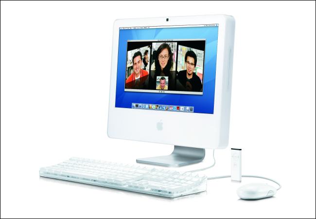 جهاز Apple iMac عام 2006 مزود بوحدة معالجة مركزية Intel.