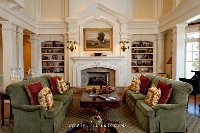 60 desain ruang tamu klasik for Southern style living room designs