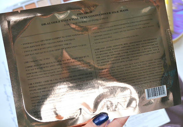 Dr. Althea Premium Squalane and Conditioning Silk Masks