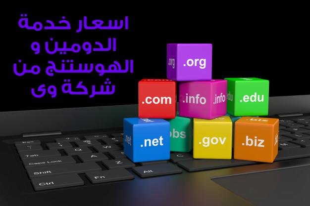 اسعار استضافة المواقع من شركة المصرية للاتصالات WE