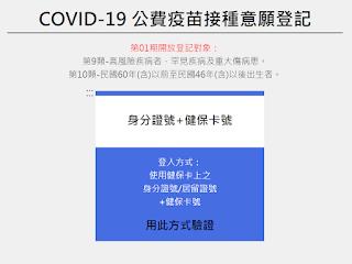 COVID-19公費疫苗預約平台,線上登記、登記對象、接種時間