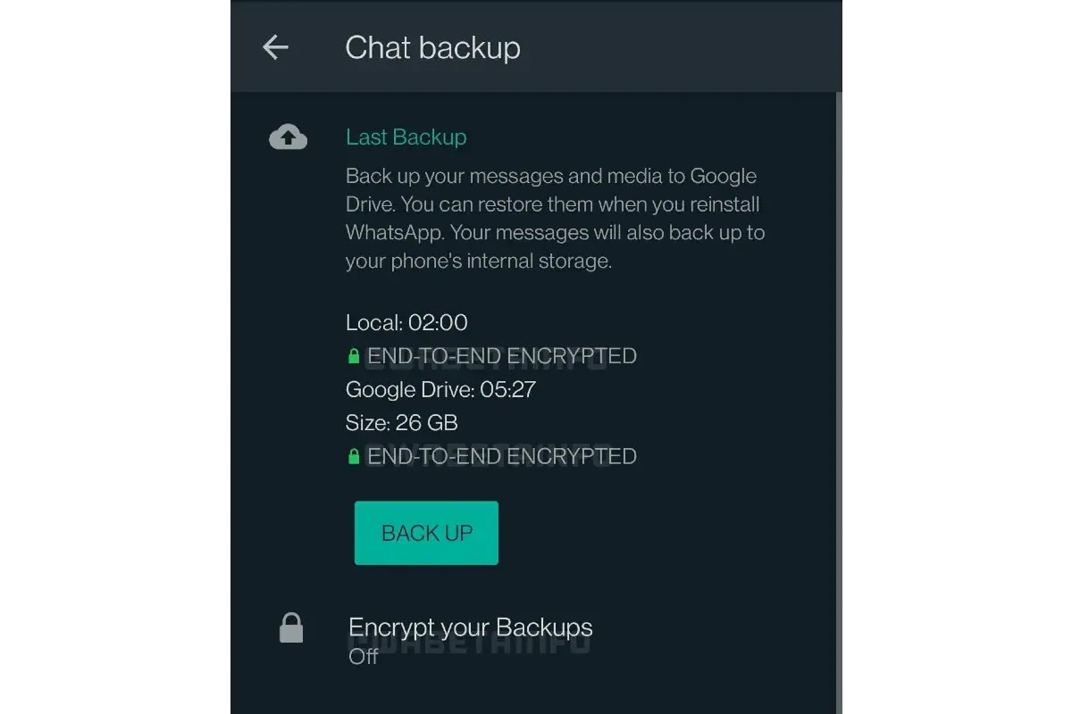 WhatsApp appears to soon enable end-to-end encryption for both local and cloud backups