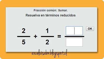 Suma de fracciones comunes.