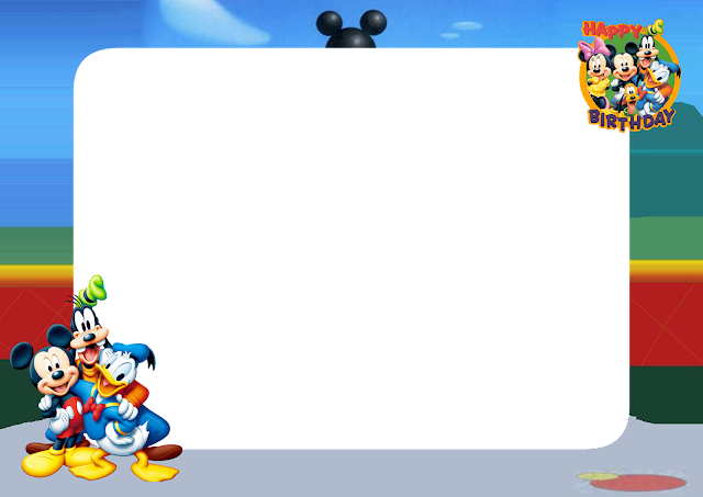 Mickey Mouse Birthday PNG Frame - Printable PNG Frames ...