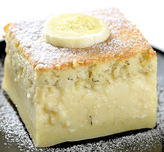 Easy Banana Magic Cake #dessert #sweets