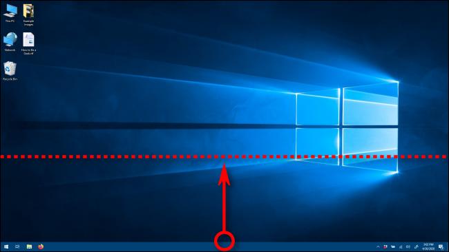 تغيير ارتفاع شريط المهام في Windows 10