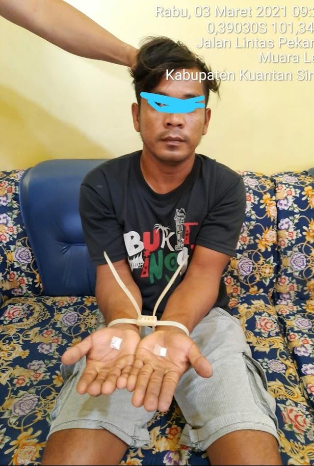 Polsek Singingi Tangkap Pelaku Tindak Pidana Narkotika || dutametro
