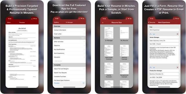Aplikasi Membuat CV Kreatif iOS