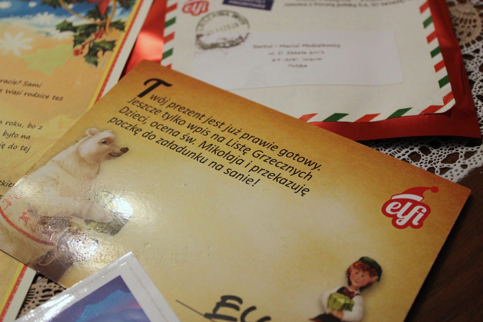 Kartka od Mikołaja ELFI