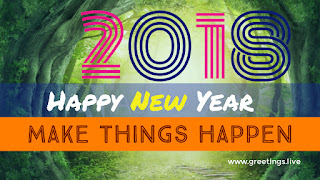 New Year wishes 2018 image