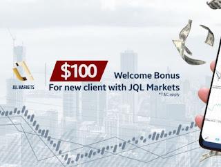 JQL Markets $100 Forex No Deposit Bonus