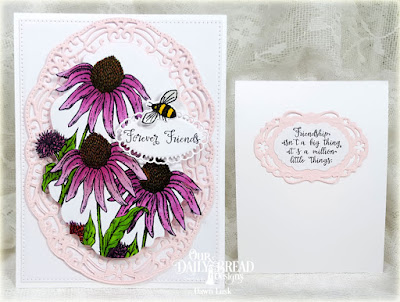 Our Daily Bread Designs Stamp Sets: Friends Forever, Butterfly and Bugs, Our Daily Bread Desings Custom Dies: Vintage Borders, Layered Lacey Ovals, Vintage Labels, Pierced Rectangles, Butterfly and Bugs