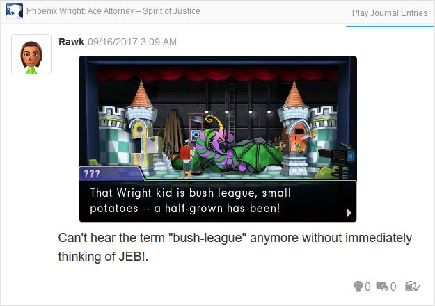 Phoenix Wright Ace Attorney Spirit of Justice Jeb Bush