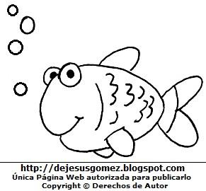 Pez para niños para colorear, pintar o imprimir. Dibujo de un pez hecho por Jesus Gómez