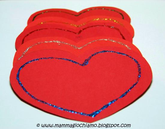 Mamma giochiamo decorazioni per san valentino cuori glitter da appendere - Decorazioni per san valentino ...