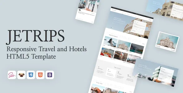 Best Responsive Travel and Hotels HTML5 Template