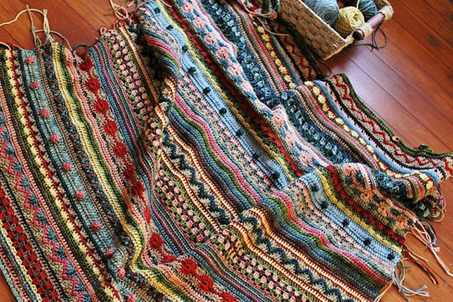 wzory narzut z wełen