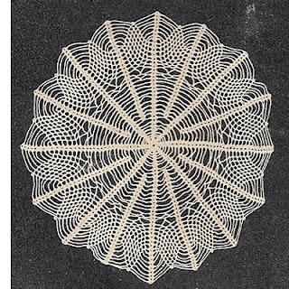 Vintage Crochet Doily, Spiderweb Pattern
