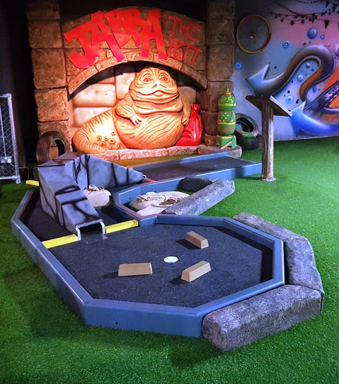 Jabba the Putt at Trailer Trash Jim's Crazy Golf at Level Preston in May 2018