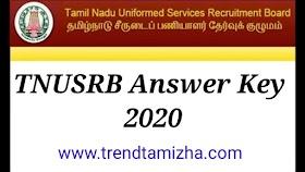 TNUSRB Exam 2020 Answer Key