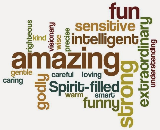 Word cloud of husband's characteristics using wordle.net