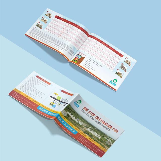 SS INFRA brochure design by cliq creatives