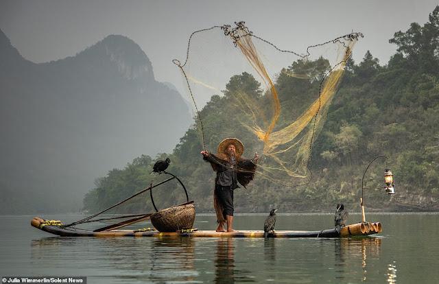 Ảnh đẹp Lão Ngư phủ tại sông Lệ Giang, Trung Quốc 8